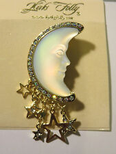 KIRKS FOLLY WHITE SEAVIEW MOON PIN/PENDANT NWT