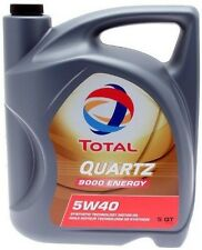 Total 9000 High Performance Full Synthetic 5W40 5W-40 Engine Motor Oil 5qt