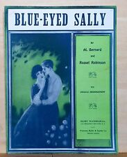 Blue-Eyed Sally - 1924 sheet music - with ukulele arrangement