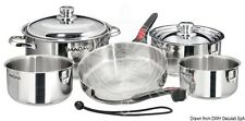 MAGMA Set of Stackable Saucepans with Stainless Steel Internal Coating