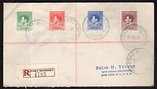 BRITISH COLONIES&TERRITORIES 1937 Reg.Cover from P.Moresby Papua to New York(CI1
