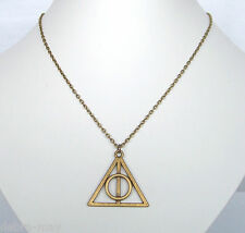 "Deathly Hallows Bronze Pendant 21"" Chain in Gift Bag - Harry Potter Film Replica"