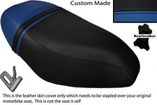 BLACK & ROYAL BLUE CUSTOM FITS PIAGGIO ZIP 50 125 00-13 DUAL LEATHER SEAT COVER
