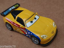 Disney Cars JEFF GORVETTE WITH CORVETTE LOGO Loose FIXED EYES
