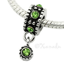 Peridot Green European Charm Bead For Bracelet - August Birthday Birthstone
