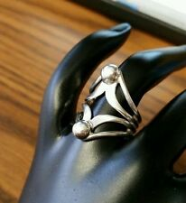 Fancy classic vintage 925 sterling silver cocktail ring for women size 6