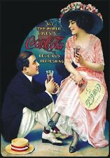 "TARGA VINTAGE ""COCA COLA DRINK""PUBBLICITA', ADVERTISING, POSTER, BAR PLATE"