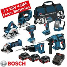 BOSCH 18 Volt Cordless 8 PEZZI KIT LI-ON bos18vkit9