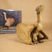Game of Thrones Viserion Baby Dragon Statue Licensed by The Noble Collection NEW