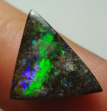 2.1 ct polished QLD Boulder Opal, perfect size for a ring, striking green flash