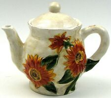 """Young's Ceramic Sunflower Teapot, 8.25"""" x 7.5"""" #30684"""