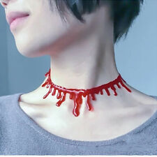 Halloween Party Red Blood Drip Necklace Bloody Vampire Choker Festival Prop