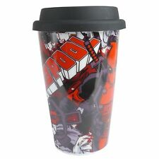 Marvel DEADPOOL ADVANTAGE Travel MUG Toy Flask Movie Man Cave Den