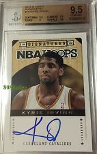 2013-14 PANINI HOOPS AUTO #112: KYRIE IRVING- ON CARD AUTOGRAPH BGS 9.5 GEM MINT