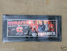 "2010-2011 Syracuse Mens Lacrosse ""No Excuses"" Team Signed 12x36 Poster Framed xl"