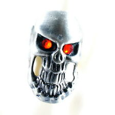 RING ghost SKULL monster pirate silver argent gray solid ONE SIZE LARGE red