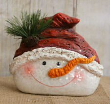 RESIN SNOWMAN HEAD CHRISTMAS/WINTER DECOR