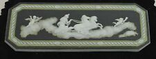 "Antique WEDGWOOD Tri-Color Medallion, Cupids, 2 5/8"", Rare, before 1891, Signed."