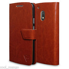 Ceego Flip Cover for Moto G4 Play - XpressGo Series - Vintage Brown