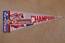 vintage 1986 Boston RED SOX AL Champions Roster PENNANT, Button & Bumper Sticker
