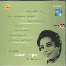 SHAMSHAD BEGUM - GREATEST HITS - HER FINEST EVER - BOLLYWOOD COLONNA SONORA CD