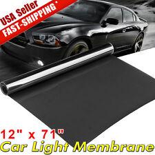 """12""""x71"""" Dark Black Car Gloss Headlight Taillight Fog Light Vinyl Tint Film sheet"""
