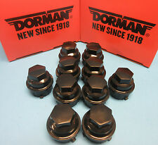 10X Wheel Nut Cover Replaces GM OEM# 9593028 for Buick Chevy GMC Pontiac Black