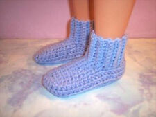 Lavender Hand Crochet Slipper Socks Shoes For The My Size Barbie Doll