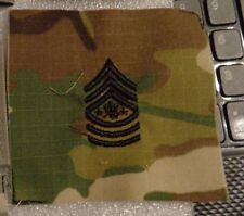 ARMY PATCH, RANK CHEVRON,SERGEANT MAJOR OF THE ARMY. MULTI-CAM,SCORPION,SEW ON