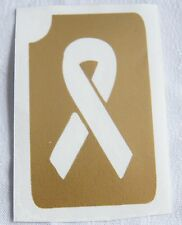 GT30 Body Art Temporary Glitter Tattoo Stencil Breast Cancer Ribbon