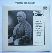 TITO SCHIPA - Recorded 1925-8 - Excellent Condition LP Record Pearl GEMM 151