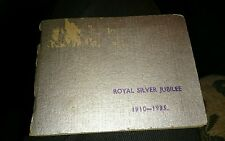 "RARE VINTAGE ROYAL SILVER JUBILEE 1910 - 1935 PHOTO ALBUM. 11 photo,s. 3 by 4""."