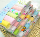 Hot 8pcs Baby Infant Towel Kids Boys Girls Bath Washcloth Bibs Pattern Random