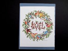 "Vintage AAG Sample Xmas Greeting Card by Tait Henson "" A Choir of Cheer """