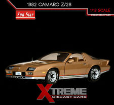 SUNSTAR SS-1930 1:18 1982 CHEVROLET CAMARO Z/28 GOLD DIECAST CAR