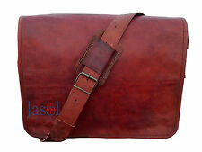 "15"" Men's Genuine Brown Leather Messenger Shoulder Laptop,Office,Briefcase Bag"