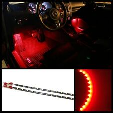 "2X 12"" Red 12 SMD LED interior exterior strip footwell ambient light HID #B3"