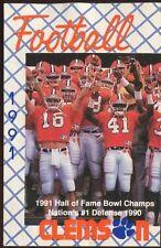 Schedule College Football Clemson 1991 Nike Sponsor