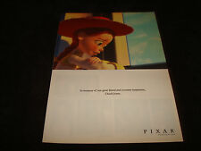CHUCK JONES 1912-2002 tribute ad from a sad Jessie of Pixar's Toy Story 2
