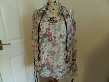 Ladies Sheer Preppy Buccaneer FloralM & S Limited Edition Blouse Size 16 BNWT