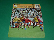 CHAMPIONNAT FRANCE XV 1977-1978 AS BEZIERS - MONTFERRAND 31-9 FICHE RUGBY