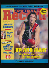 1998 AFL Football Record Fremantle Dockers vs Adelaide Crows Round 17 unmarked