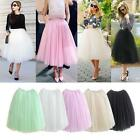 Women Fashion 5 Layers Tulle Ballet Circle A Line Flare Gauze Tutu Fairy Skirt