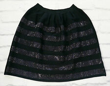 Day To Night: Issa Crystal Stripe Heavy Knit Bell Shape Skirt NWT SzM/UK10-12