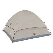 Small Camping Tent Coleman Hiking 4 Person Cabin Dome Instant Shelter Gray Bag