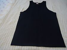 MENS ATHLETIC MUSCLE SLEEVLESS TANK TOP SHIRT SIZE M 100% Cotton BLACK AAA BRAND