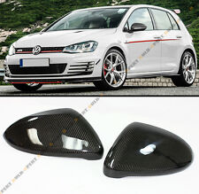 Direct Replacement Carbon Fiber Mirror Cover Caps Fits 2015-2017 VW Golf GTI MK7
