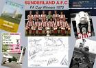 1973 FA CUP FINAL SUNDERLAND FC FULL TEAM SIGNED (PRINTED) EXCLUSIVE