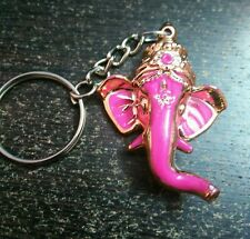 Lord Ganesha Ganapathi Keychain Gift for Temple devotee Pink Keychain God Ganesh
