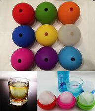 "2.5"" Bar Silicone Ice Cube Ball Maker Mold Sphere Large Tray Whiskey DIY Mould"